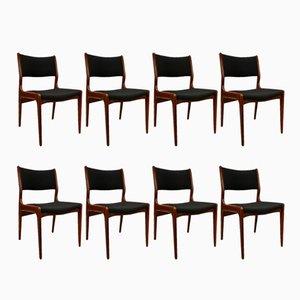 Dänische Mid-Century Teak Stühle, 8er Set