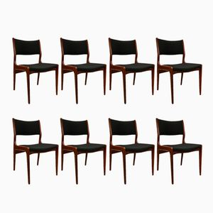 Mid-Century Danish Teak Chairs, Set of 8