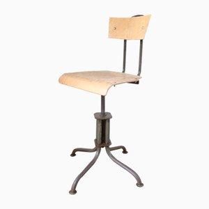 Chaise d'Usine Vintage Industrielle Ajustable, 1950s