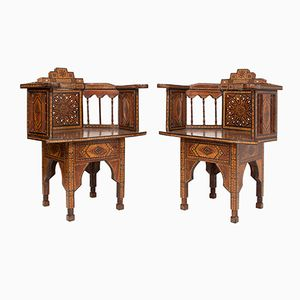 Maurische Stühle aus 20. Jhdt., 2er Set