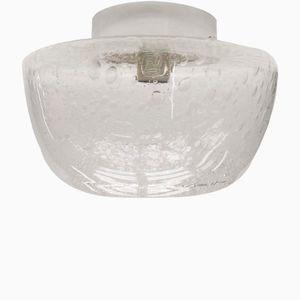 Heavy Clear Glass & Chrome Wall Lamp, 1960s