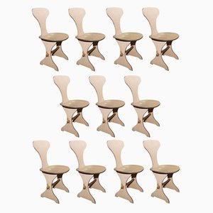 Italian Vintage Dining Chairs, 1960s, Set of 10