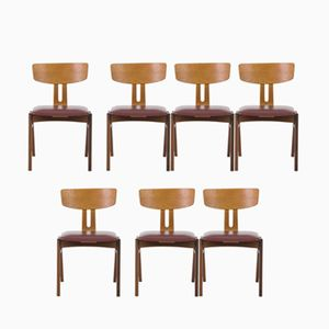 Combex Chairs by Cees Braakman for UMS Pastoe, 1950s, Set of 7