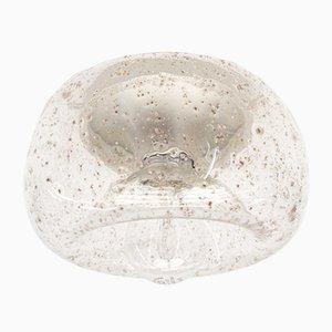 Klarglas & Chrom Donut Lampe mit Einschlüssen, 1960er