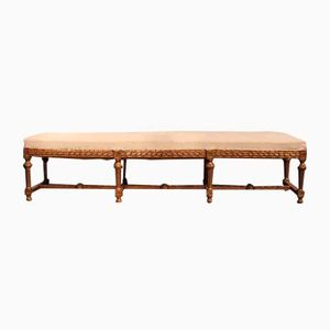 Long Antique Giltwood Bench