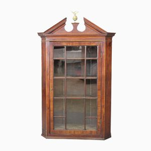 George III Inlaid Mahogany Hanging Cabinet