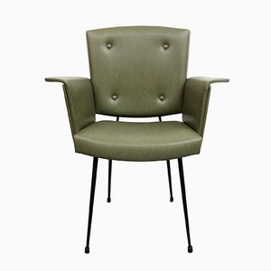 Chaise Vert Olive, 1950s