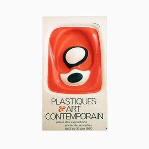 Plastiques & Art Contemporain Plakat von François Cante Pacos, 1970