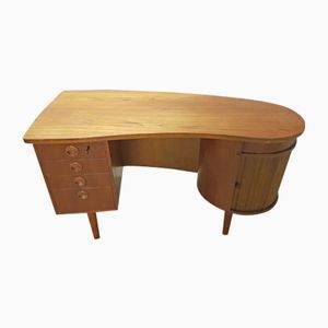 Teak Model 54 Desk by Kai Kristiansen for FM Møbler, 1950s
