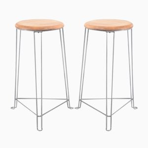 Mid-Century Industrial Stools from Tomado Holland, Set of 2