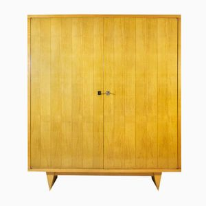 Mid-Century Sycamore Armoire, 1950s