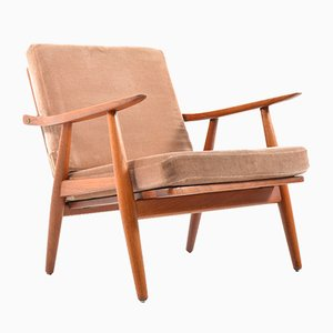 Mid-Century GE-270 Easy Chair by Hans J. Wegner for Getama