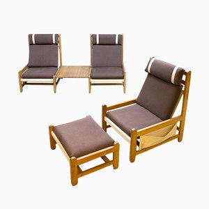 Vintage Danish Beech Lounge Set by Niels Eilersen