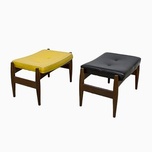 Vintage Danish Footstools, Set of 2