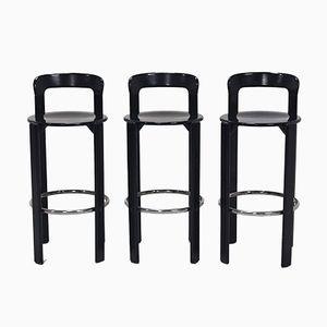 Swiss Bar Stools by Bruno Rey for Dietiker, 1970s, Set of 3
