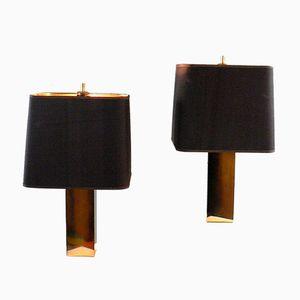 Lampes de Bureau Vintage en Laiton, 1970s, Set de 2