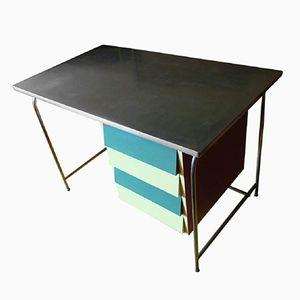 Italienischer Mid-Century Stahlrohr & Formica Schreibtisch