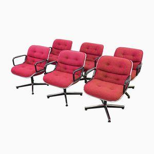 Vintage Stühle von Charles Pollock für Knoll International, 6er Set