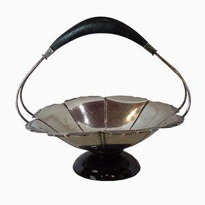 Vintage Italian Silver & Ebony Basket