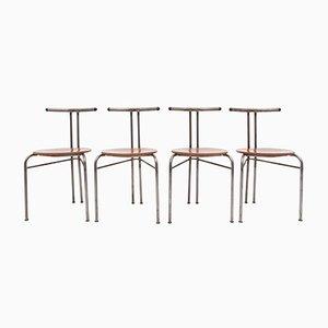 Dänische Industrielle Stühle, 1960er, 4er Set