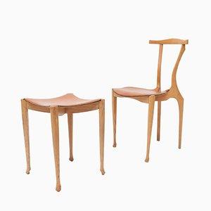 Gaulino Chair & Ottoman by Oscar Tusquets Blanca for Carlos Jane, 1980s