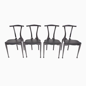 Black Gaulino Chairs by Oscar Tusquets, 1980s, Set of 4