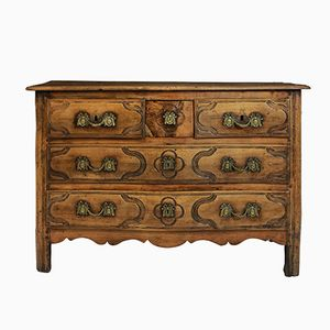 French Walnut Commode, 1780s