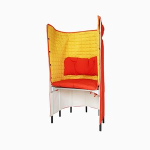 La Sfogliata Armchair by Gaetano Pesce for Meritalia in Fabric and Aluminum, 2003