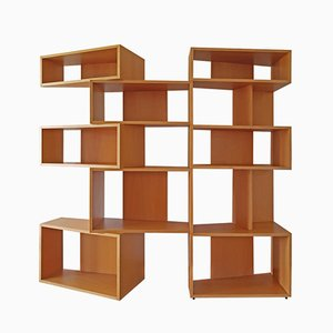 Italian Wide Beech Bookcase by Franco Poli for Bernini, 1995