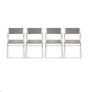 Vintage Dining Chairs by Niels Jorgen Haugesen for Magis, Set of 4