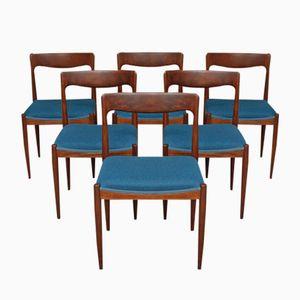 Dining Chairs by Arne Vodder for Vamo Sønderborg, 1960s, Set of 6