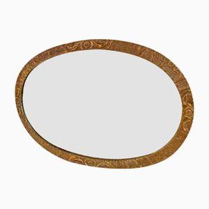 British Brass Wall Mirror, 19th Century