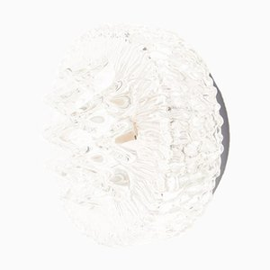 Geometrische Glas Wandlampe, 1960er