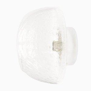 Wandlampe aus Glas & Chrom, 1960er