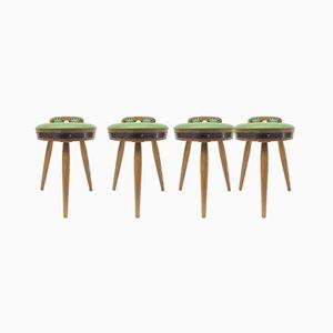 Green Bar Stools, 1960s, Set of 4