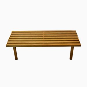 Vintage French Wooden Bench