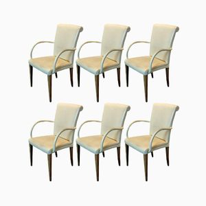 Victoria Leather Chairs from Poltrona Frau, Set of 6