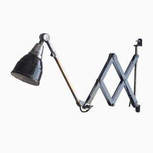 Vintage Blue Scissor Lamp by Curt Fischer for Midgard