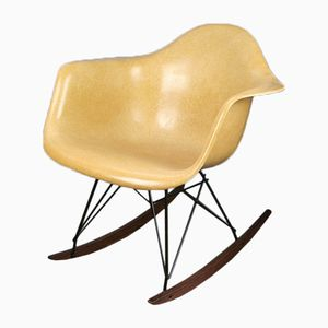 RAR Light Ochre Rocking Chair by Charles & Ray Eames for Herman Miller, 1960s