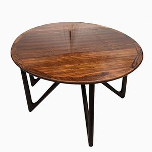 Rosewood Oval Dining Table by Kurt Ostervog for Jason Mobler, 1960s