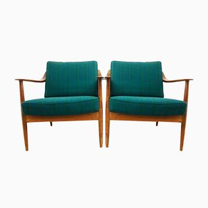 Vintage Teak Armchairs from Knoll, Set of 2