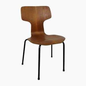 Hammer Teak Kinderstuhl von Arne Jacobsen für Fritz Hansen, 1968