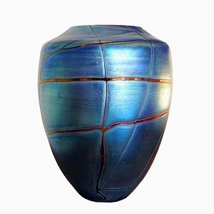Vintage Bohemian Style Vase by Johann Loetz Witwe for Kralik