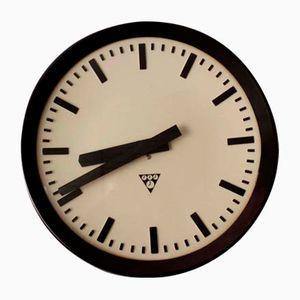 Horloge de Gare Mid-Century en Bakélite de Pragotron, République Tchèque