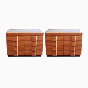 Vintage Rosewood Dressers by Ico Parisi, Set of 2