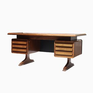 French Solid Wooden Desk, 1960s