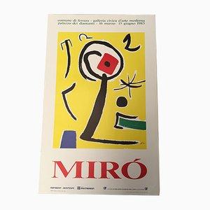 Poster per una mostra di Mirò di Montedison, 1985