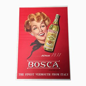 Bosca Vermouth Poster from Ponzetto, 1950s