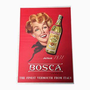 Bosca Vermouth Poster von Ponzetto, 1950er
