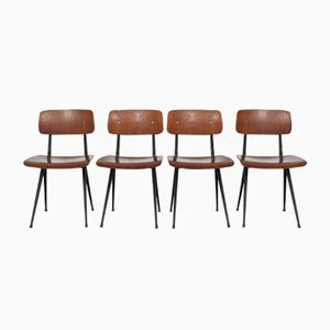 Chaises Result Vintage par Friso Kramer pour Ahrend De Cirkel, 1960s, Set de 4